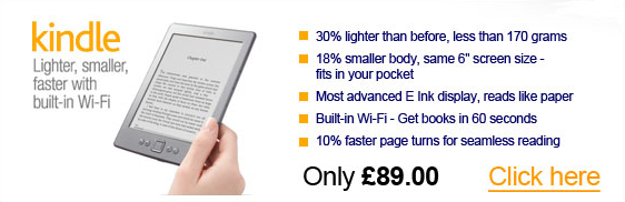 Amazon Kindle - lighter, smaller, faster with built-in Wi-Fi
